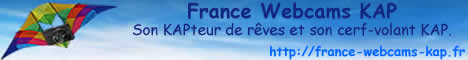 France Webcams KAP prends les airs avec son KAPteur de rêves, sous un cerf-volant porteur et sa nacelle KAP KAM - france-webcams-kap.fr